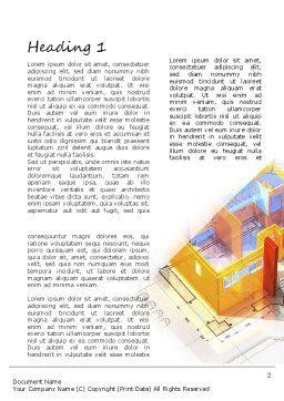 3D House Draft Word Template, First Inner Page, 11232, Construction — PoweredTemplate.com
