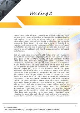 3D House Draft Word Template, Second Inner Page, 11232, Construction — PoweredTemplate.com