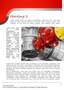 Industrial Pipe Junction Word Template, First Inner Page, 11236, Utilities/Industrial — PoweredTemplate.com