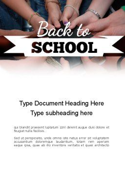 Back to School Concept Word Template Cover Page