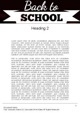 Back to School Concept Word Template Second Inner Page