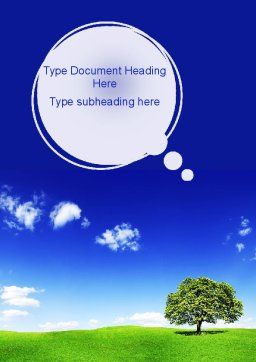 Tree on Horizon Word Template, Cover Page, 11239, Nature & Environment — PoweredTemplate.com