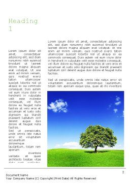Tree on Horizon Word Template, First Inner Page, 11239, Nature & Environment — PoweredTemplate.com