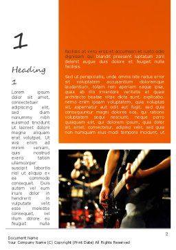 Live Band Word Template First Inner Page