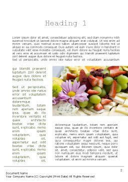 Baby Shower Food Word Template, First Inner Page, 11241, Food & Beverage — PoweredTemplate.com