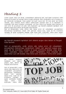 Top Job Word Template, First Inner Page, 11243, Careers/Industry — PoweredTemplate.com