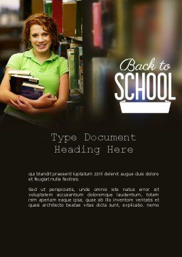 Successful Student Word Template, Cover Page, 11244, Education & Training — PoweredTemplate.com