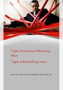 Red Tape Word Template, Cover Page, 11245, Consulting — PoweredTemplate.com