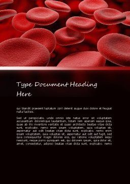 RBC Cells Word Template, Cover Page, 11247, Medical — PoweredTemplate.com
