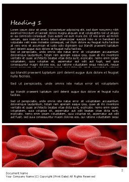 RBC Cells Word Template, First Inner Page, 11247, Medical — PoweredTemplate.com