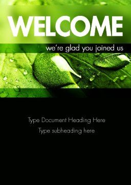 Green Organization Word Template, Cover Page, 11248, Nature & Environment — PoweredTemplate.com