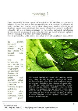 Green Organization Word Template, First Inner Page, 11248, Nature & Environment — PoweredTemplate.com