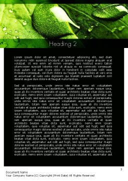 Green Organization Word Template, Second Inner Page, 11248, Nature & Environment — PoweredTemplate.com