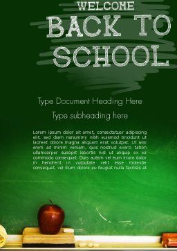 School Chalkboard Word Template Cover Page