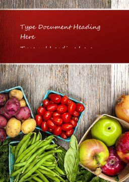 Fruit and Veg Word Template, Cover Page, 11252, Food & Beverage — PoweredTemplate.com