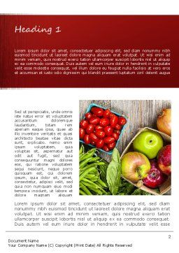 Fruit and Veg Word Template, First Inner Page, 11252, Food & Beverage — PoweredTemplate.com
