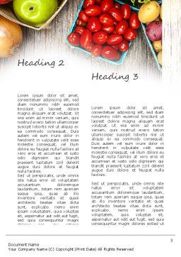 Fruit and Veg Word Template, Second Inner Page, 11252, Food & Beverage — PoweredTemplate.com