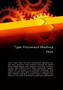 Connect and Communicate Word Template, Cover Page, 11253, Careers/Industry — PoweredTemplate.com