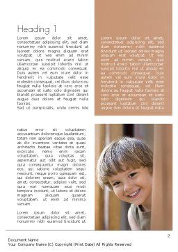 Early Childhood Education Word Template First Inner Page