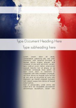France Presentation Word Template, Cover Page, 11256, Flags/International — PoweredTemplate.com