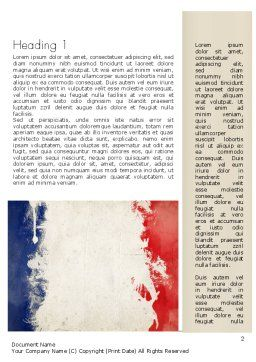 France Presentation Word Template, First Inner Page, 11256, Flags/International — PoweredTemplate.com