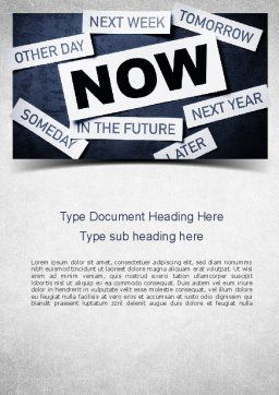 Stop Procrastinating Word Template, Cover Page, 11257, Business Concepts — PoweredTemplate.com