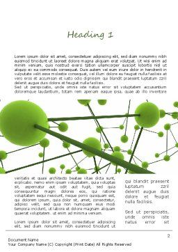 Green Network Word Template, First Inner Page, 11258, Technology, Science & Computers — PoweredTemplate.com