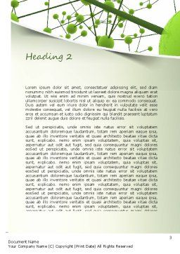 Green Network Word Template, Second Inner Page, 11258, Technology, Science & Computers — PoweredTemplate.com