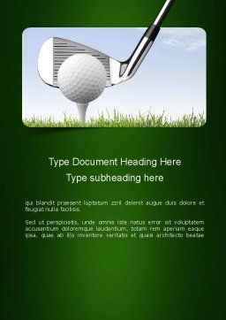 Golf Tournament Word Template, Cover Page, 11259, Sports — PoweredTemplate.com