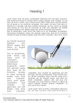 Golf Tournament Word Template, First Inner Page, 11259, Sports — PoweredTemplate.com