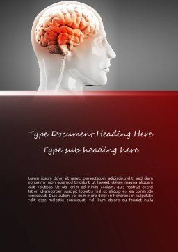 Thalamic Surface Word Template, Cover Page, 11260, Medical — PoweredTemplate.com