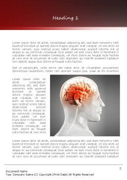 Thalamic Surface Word Template, First Inner Page, 11260, Medical — PoweredTemplate.com