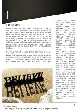 Believe Word Template, First Inner Page, 11262, Education & Training — PoweredTemplate.com