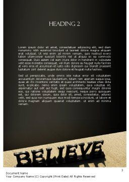 Believe Word Template, Second Inner Page, 11262, Education & Training — PoweredTemplate.com