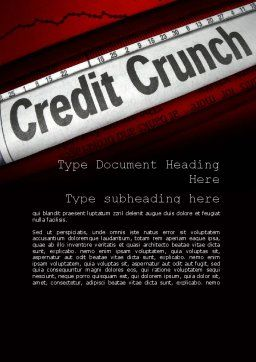 Credit Crunch Headline Word Template Cover Page