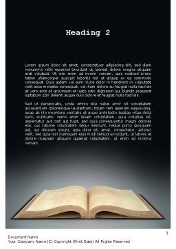 Open Bible with Light Rays Word Template, Second Inner Page, 11265, Religious/Spiritual — PoweredTemplate.com