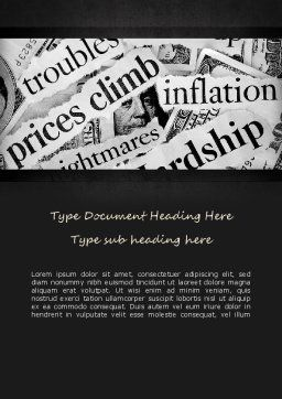 Great Recession Word Template, Cover Page, 11266, Financial/Accounting — PoweredTemplate.com