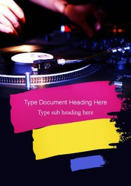 DJ Equipment Word Template Cover Page