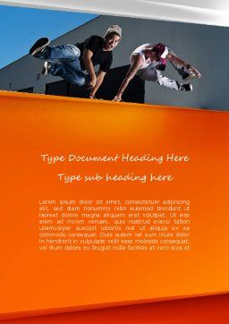 Parkour Word Template, Cover Page, 11268, Sports — PoweredTemplate.com