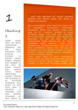 Parkour Word Template, First Inner Page, 11268, Sports — PoweredTemplate.com