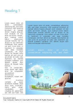Smart City Word Template, First Inner Page, 11269, Technology, Science & Computers — PoweredTemplate.com
