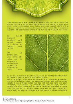 Green Leaf Structure Word Template, First Inner Page, 11271, Nature & Environment — PoweredTemplate.com