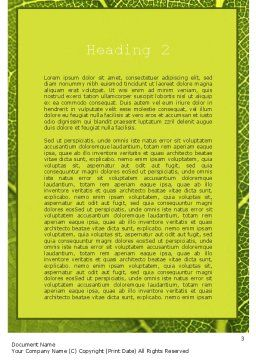 Green Leaf Structure Word Template, Second Inner Page, 11271, Nature & Environment — PoweredTemplate.com