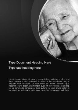 Geriatric Woman Word Template Cover Page