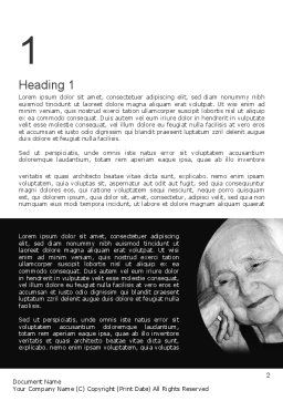 Geriatric Woman Word Template First Inner Page