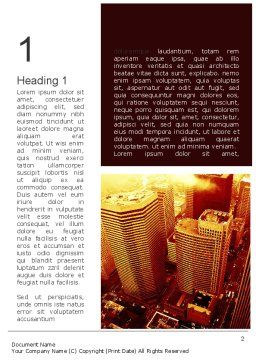 Seattle Word Template, First Inner Page, 11275, Construction — PoweredTemplate.com