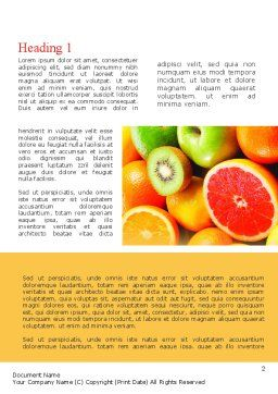 Vivid Fruits Word Template First Inner Page