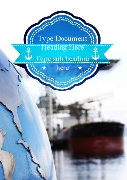 Shipping Company Word Template, Cover Page, 11280, Cars/Transportation — PoweredTemplate.com