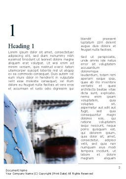 Shipping Company Word Template First Inner Page