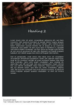 Bonfire Warmth Word Template, Second Inner Page, 11282, General — PoweredTemplate.com